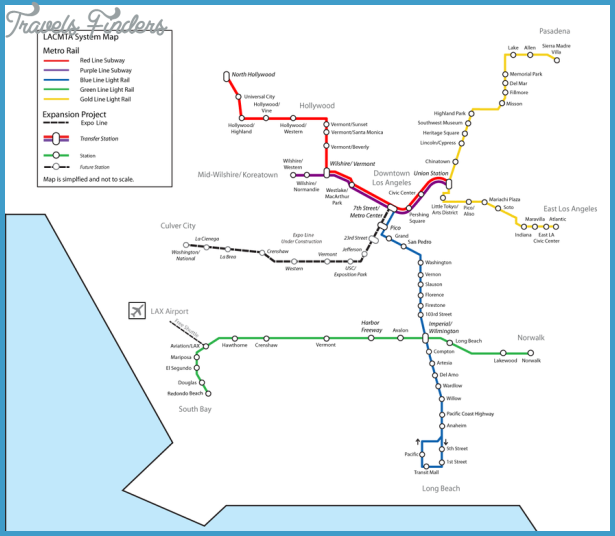 Los Angeles Subway Map  Travel  Map  Vacations