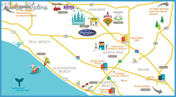 Anaheim Map Tourist Attractions TravelsFindersCom