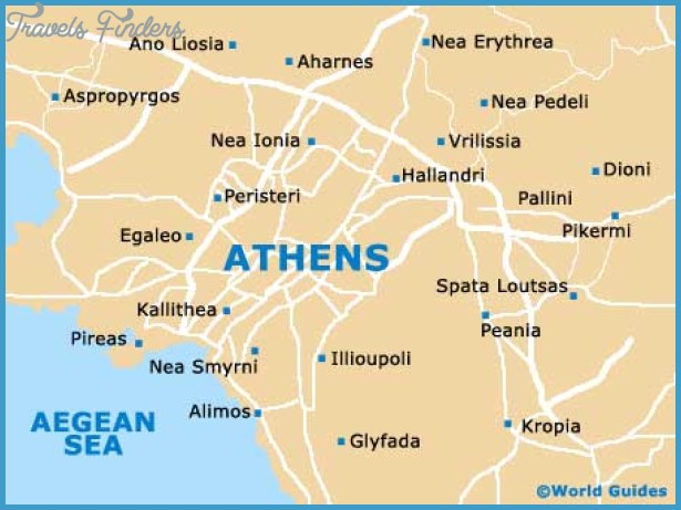 Athens Map Tourist Attractions – Athens Tourist Attractions Map