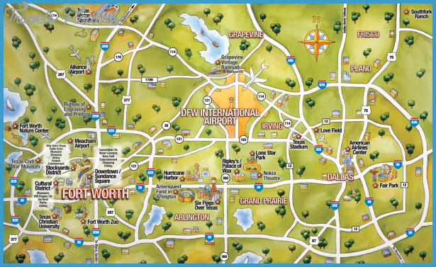 Austin Map Tourist Attractions – Austin Tourist Map