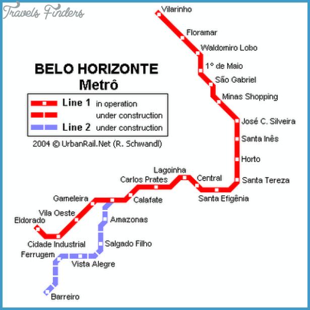 Belo Horizonte Metro Map TravelsFindersCom