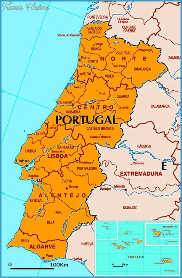 Portugal Metro Map TravelsFindersCom - Portugal map