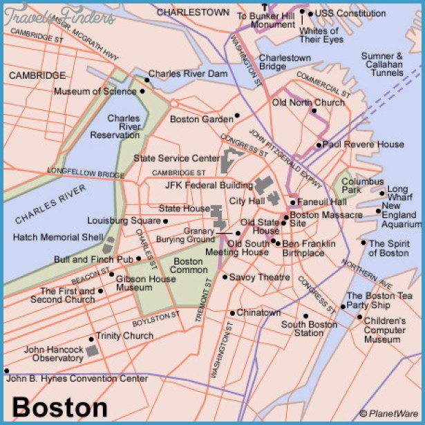 Boston Map Tourist Attractions – Boston Map Tourist