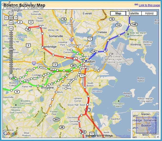 Boston Subway Map Travelsfinders Com