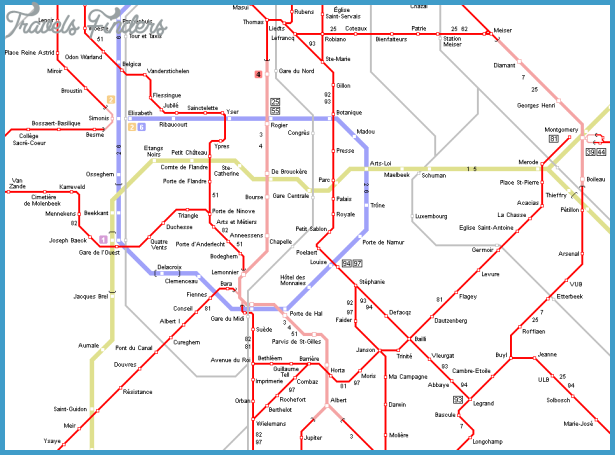 Brussels Metro Map TravelsFindersCom