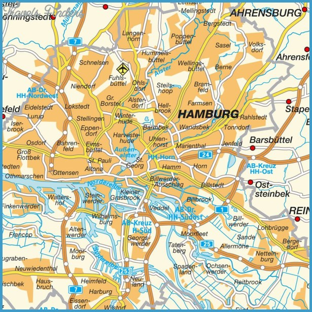 Hamburg Map Travelsfinders Com