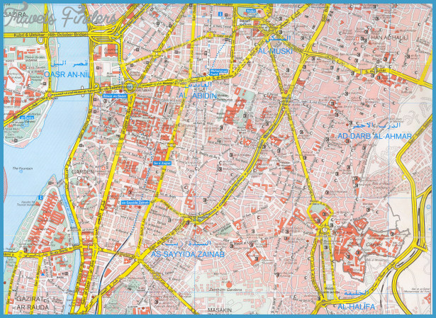 Cairo Map Tourist Attractions – Egypt Tourist Attractions Map