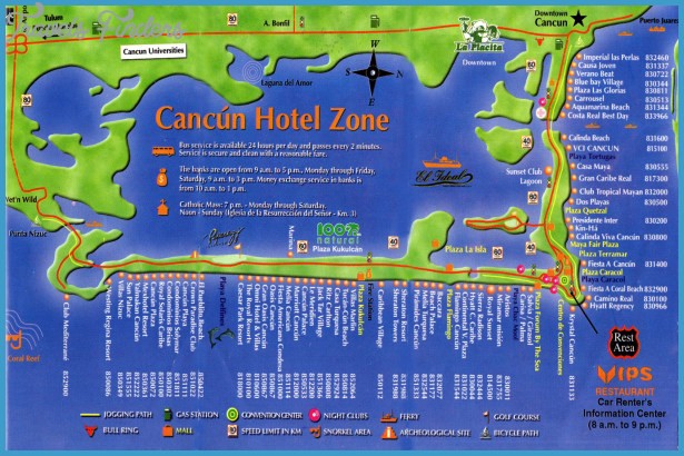 Mexico Map Tourist Attractions – Cancun Tourist Attractions Map