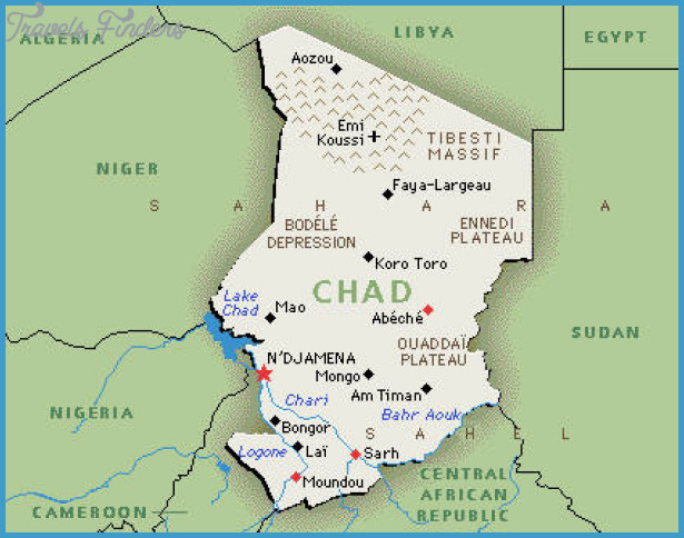 Chad Map Travel Map Vacations TravelsFindersCom - Chad map