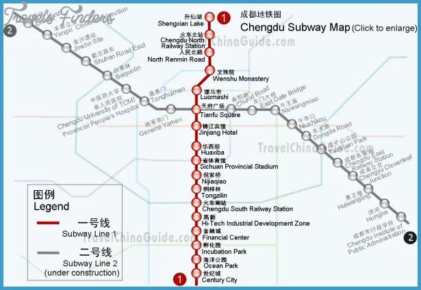 Chengdu Subway Map New Station.Chengdu Subway Map Travelsfinders Com