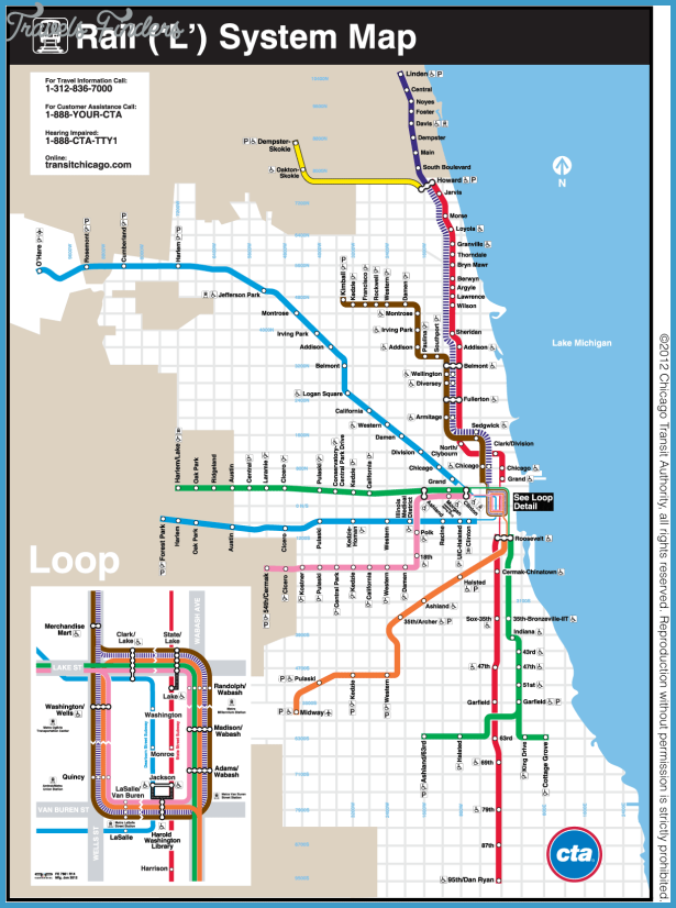 Chicago Metro Map - TravelsFinders.Com ®