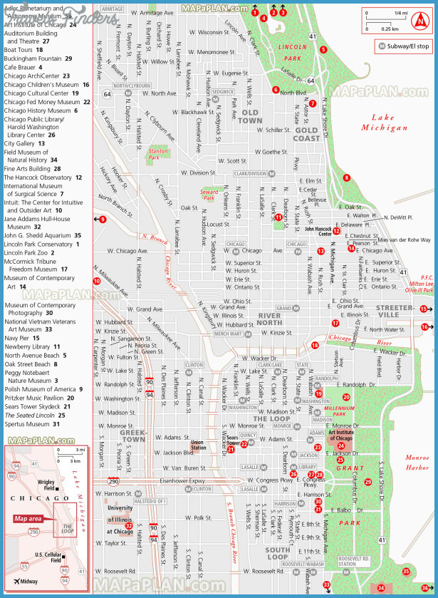 Lincoln Map Tourist Attractions TravelsFindersCom