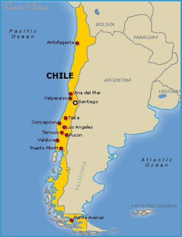Chile Map Travel Map Vacations TravelsFindersCom - Map of chile