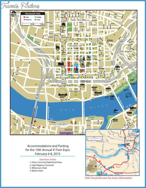 Cincinnati Map Travelsfinders Com
