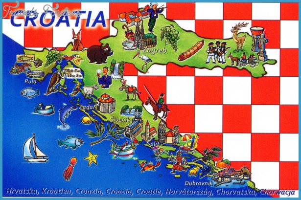 Croatia tourist map