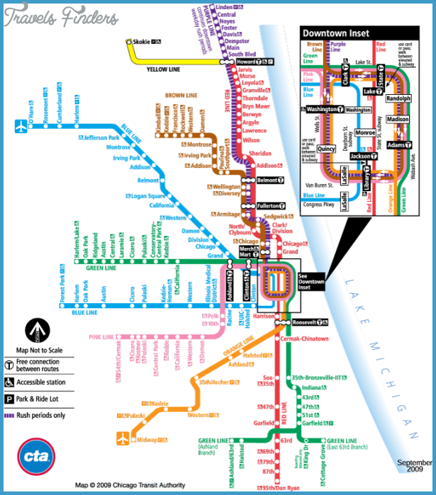 Subway Chicago Map