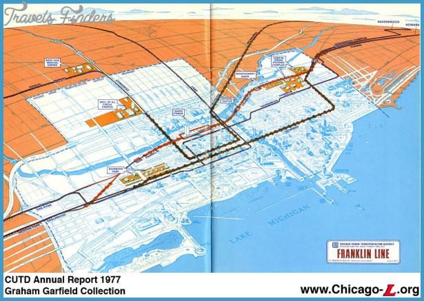 Chicago Subway Subway Map.Chicago Subway Map Travelsfinders Com