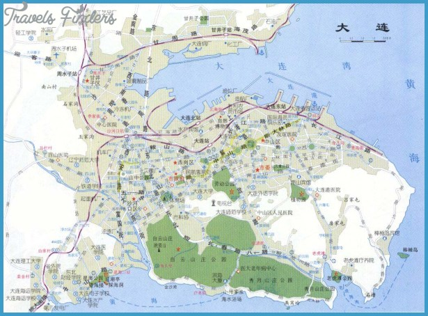 Dalian Map TravelsFindersCom