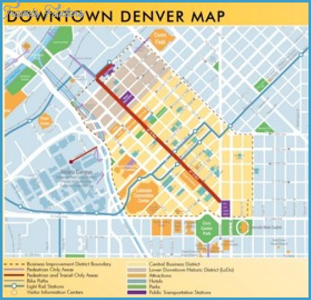Denver Map Tourist Attractions TravelsFindersCom