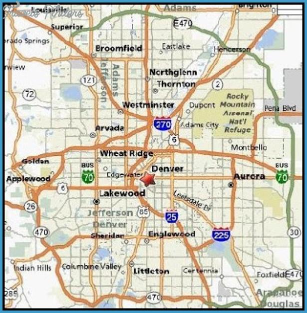 Denver Map Tourist Attractions TravelsFindersCom
