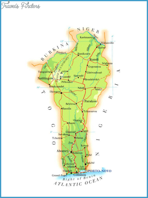 Benin Map Tourist Attractions Travel Map Vacations - Benin map