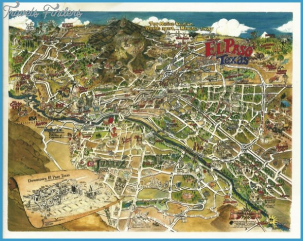 El Paso Map Tourist Attractions TravelsFindersCom