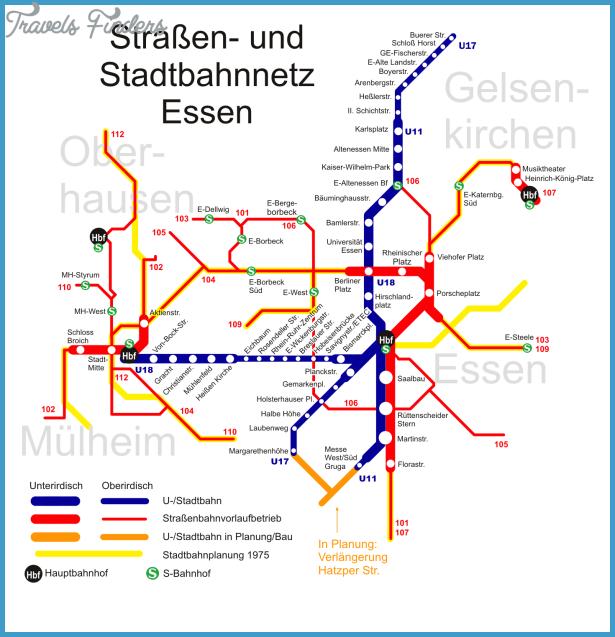 EssenDsseldorf Metro Map TravelsFindersCom