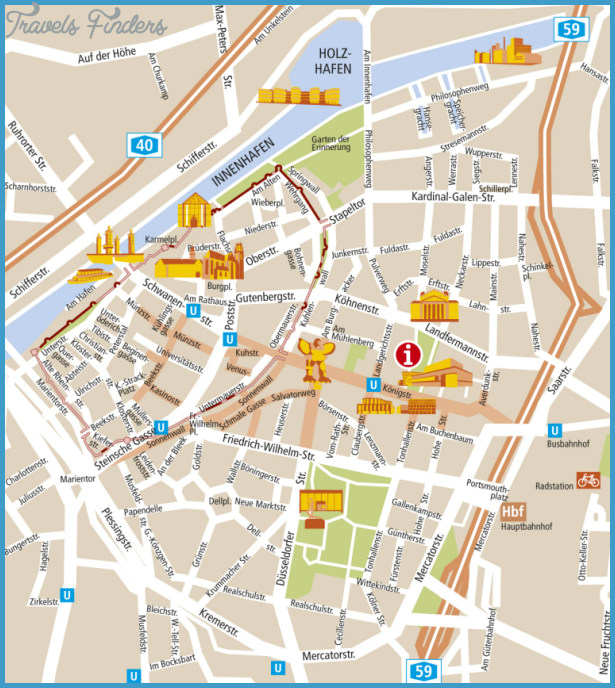 Essen/Düsseldorf Map Tourist Attractions _10.jpg