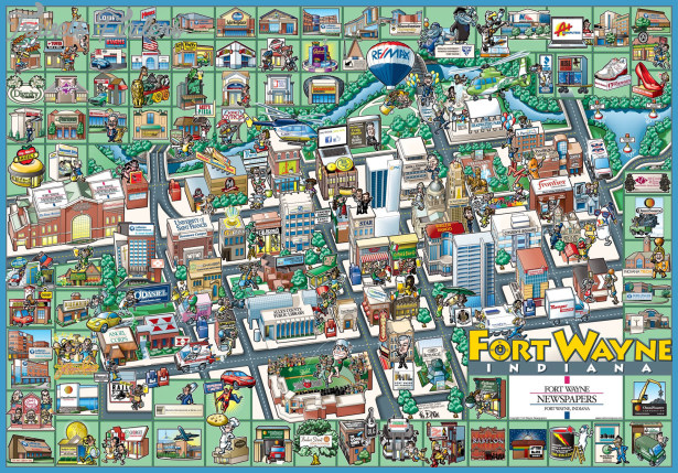 Fort Wayne Map Tourist Attractions _1.jpg