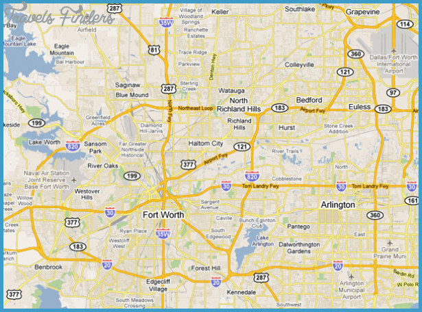 Fort Worth Map | TravelsFinders.Com ®