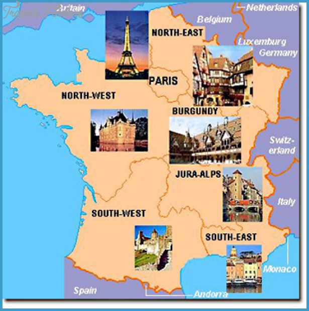 Map Of South East France.France Map Tourist Attractions Travelsfinders Com