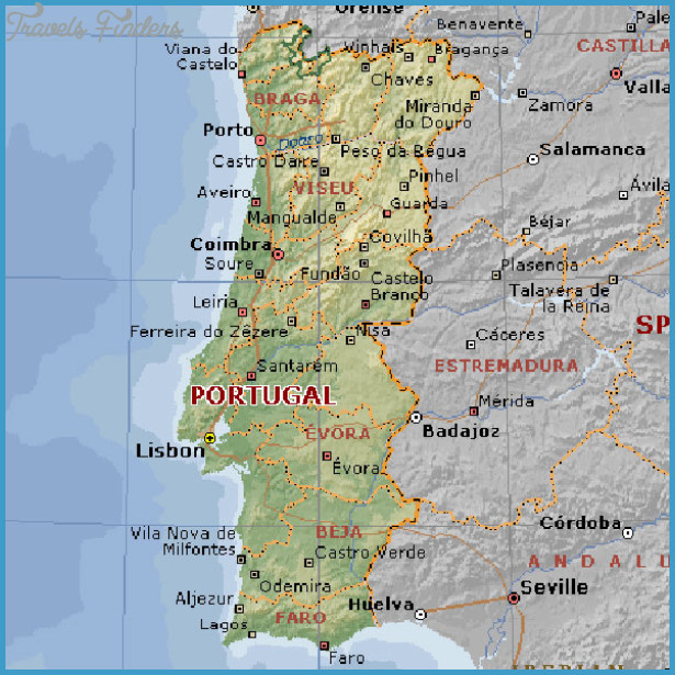 Portugal Map Travel Map Vacations TravelsFindersCom - Portugal map aveiro
