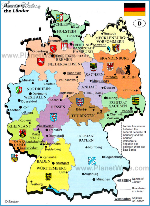 EssenDsseldorf Map Tourist Attractions TravelsFindersCom