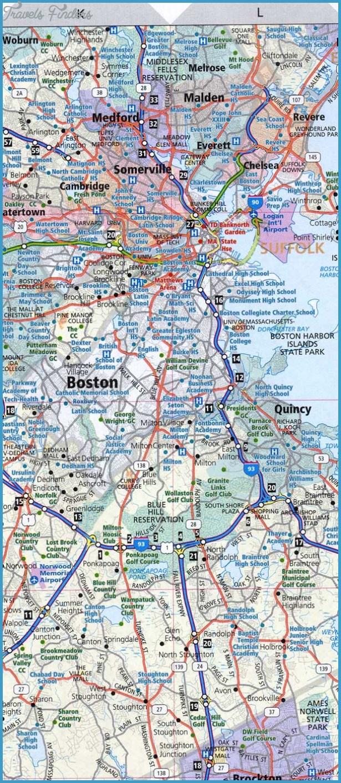 Boston Metro Map - TravelsFinders.Com