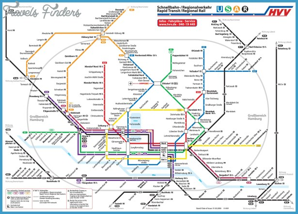 Hamburg Subway Map.Senegal Metro Map Travelsfinders Com