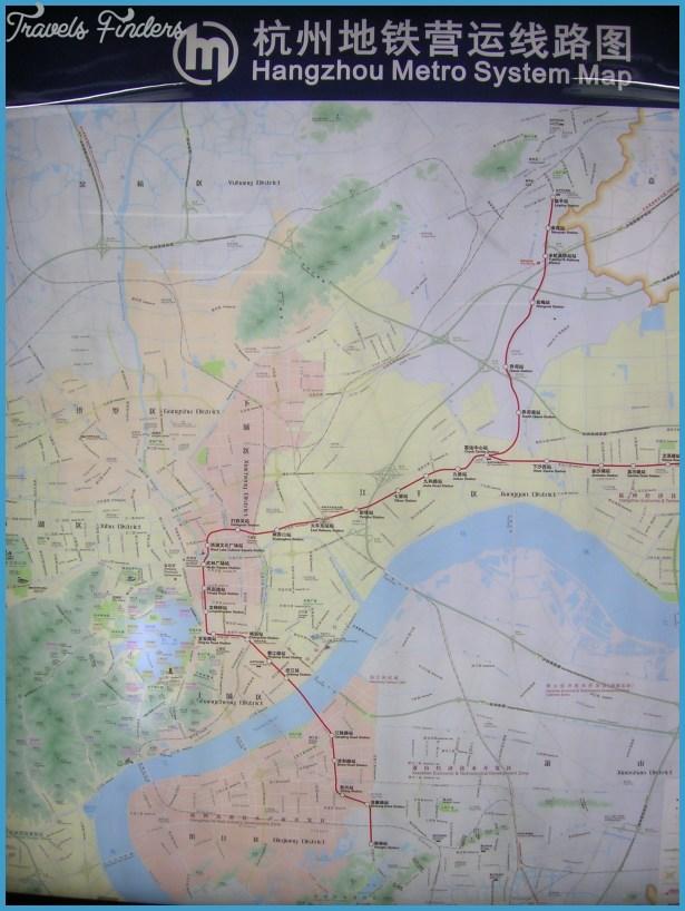 Hangzhou Subway Map.Hangzhou Subway Map Travelsfinders Com
