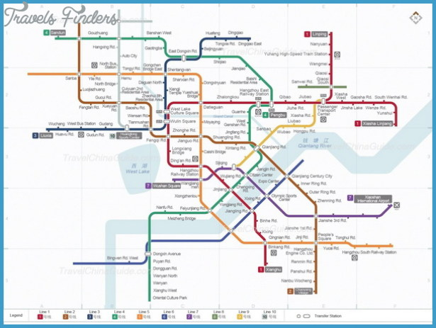 Hangzhou Subway Map TravelsFindersCom
