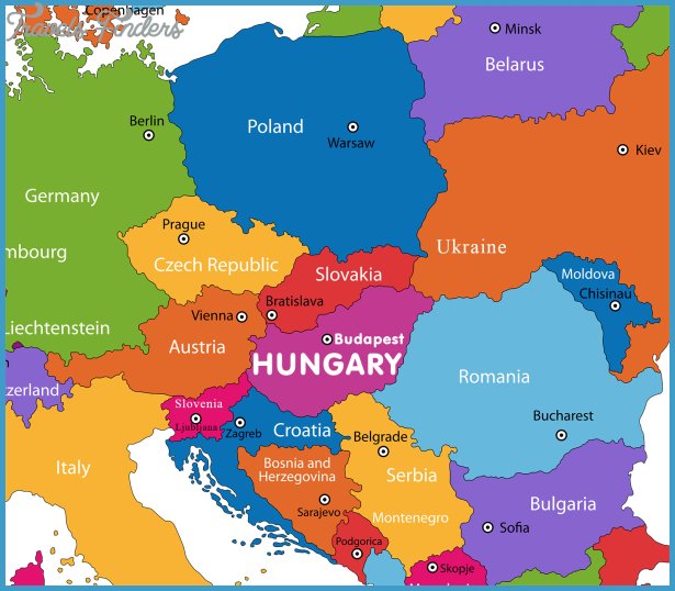 Map Of Germany And Hungary.Hungary Map Travelsfinders Com