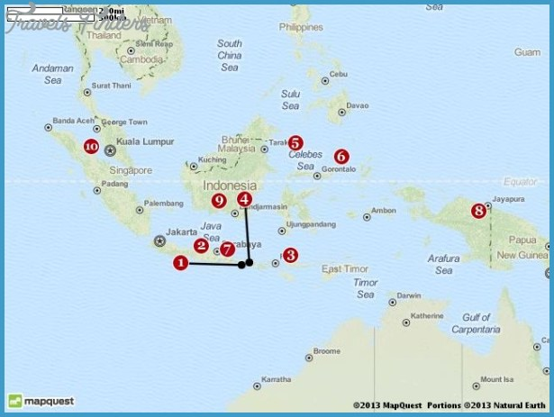Indonesia Map Tourist Attractions – Indonesia Tourist Attractions Map