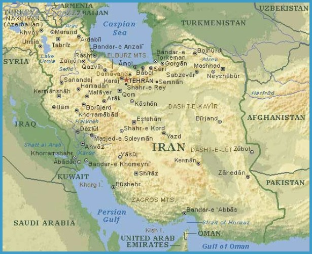 Iran Map Tourist Attractions – Iran Tourist Attractions Map