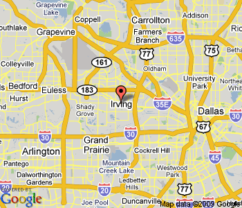 Irving Map TravelsFindersCom