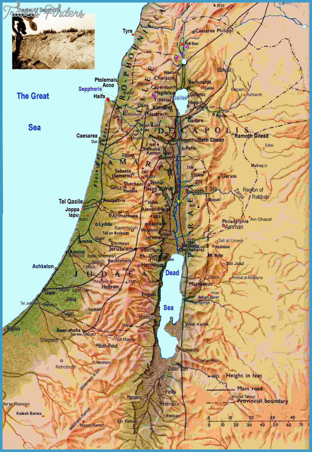This is a photo of Versatile Printable Map of Israel