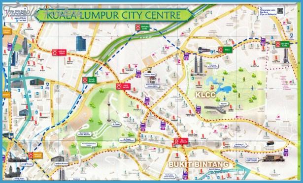 Kuala Lumpur Metro Map TravelsFindersCom - kuala lumpur map