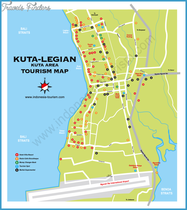 Indonesia Map Tourist Attractions Travelsfinders Com