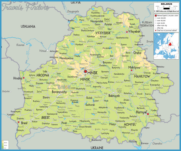 Belarus Map TravelsFindersCom