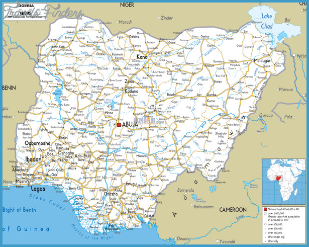 Nigeria Map TravelsFindersCom