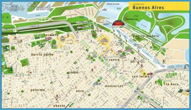 Argentina Metro Map Travel Map Vacations TravelsFindersCom - Argentina map detailed