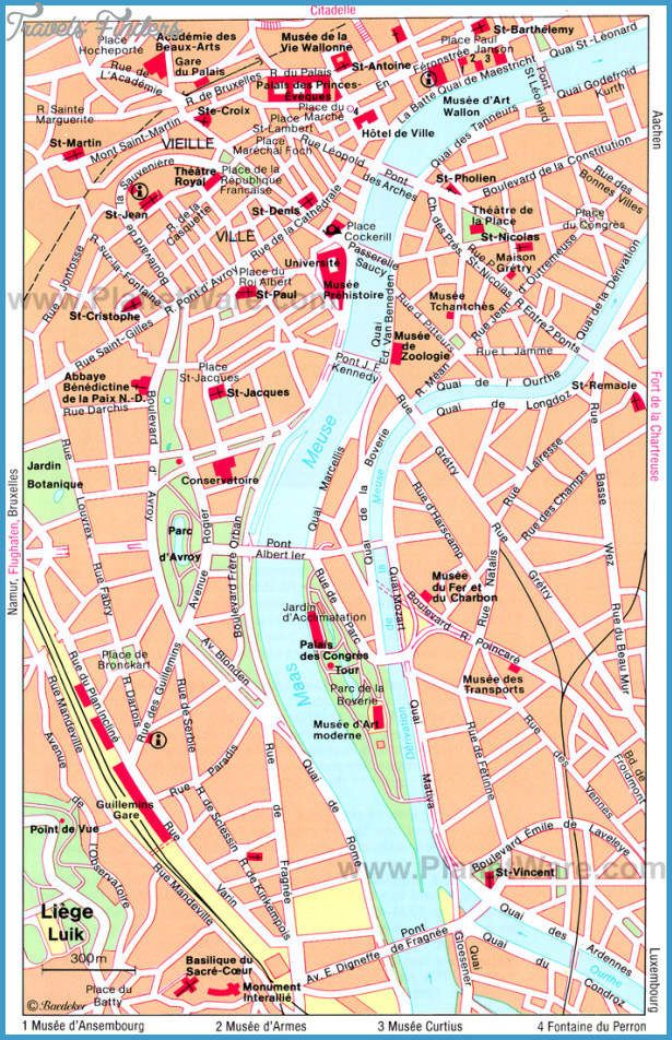 CologneBonn Map Tourist Attractions TravelsFindersCom