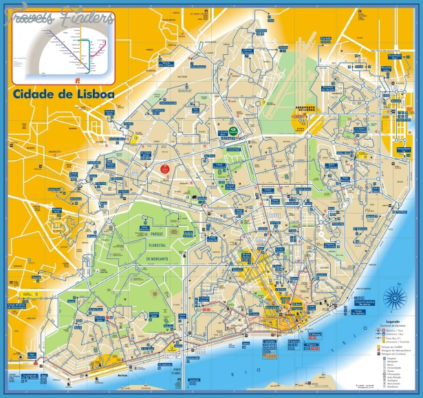 Portugal Subway Map Travel Map Vacations TravelsFindersCom - Portugal map jpg