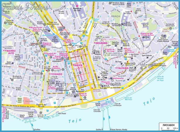 Lisbon Map Tourist Attractions – Lisbon Tourist Attractions Map